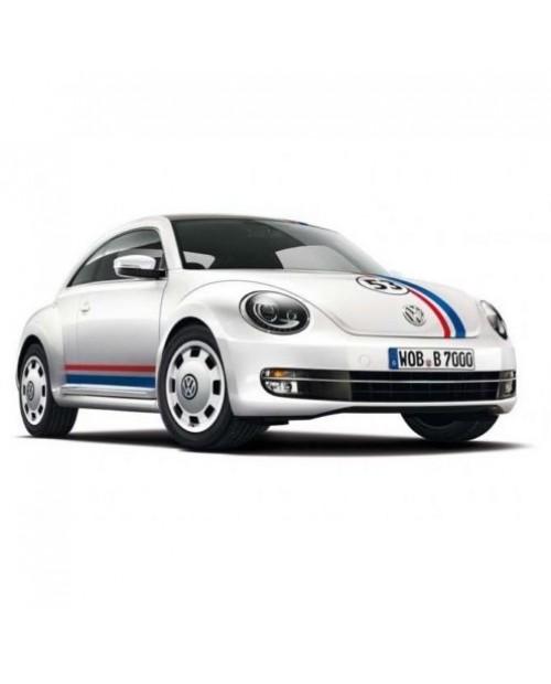 Aufkleber passend für VW New Beetle Rennstreifen Racing Stripes Aufkleber Satz 53 Herbie Edition Seiten-, Hauben- und Heckstreifen, '53' nummer. Optional Dachstreifen.