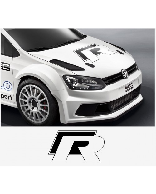 Aufkleber passend für VW Polo Golf R WRC Street Haubenaufkleber Aufkleber 50cm