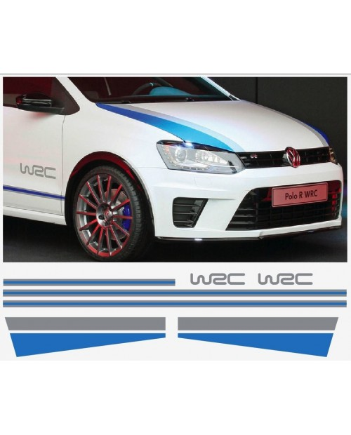 Aufkleber passend für VW Polo R WRC Seitenaufkleber Haubenaufkleber Aufkleber Satz