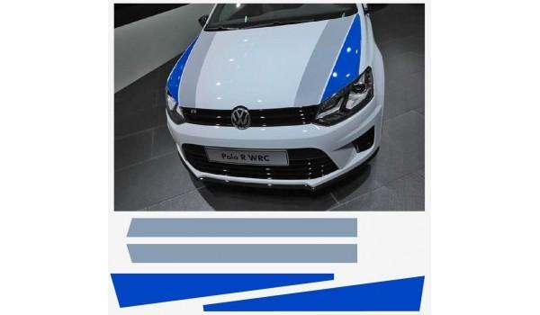 Aufkleber passend für VW Polo R WRC Street Haubenaufkleber Aufkleber Satz